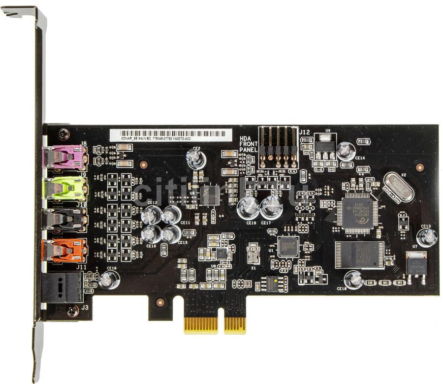 Звуковая карта PCI-E ASUS Xonar SE,  5.1, Ret