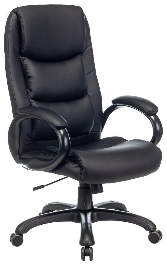 Кресло руководителя БЮРОКРАТ CH-S840N, на колесиках, искусственная кожа, черный [ch-s840n/black]