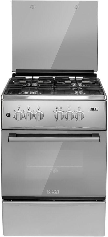 Газовая плита RICCI RGC5702IX,  газовая духовка,  нержавеющая сталь