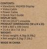 """Монитор VIEWSONIC VA2403 23.6"""", черный вид 11"""