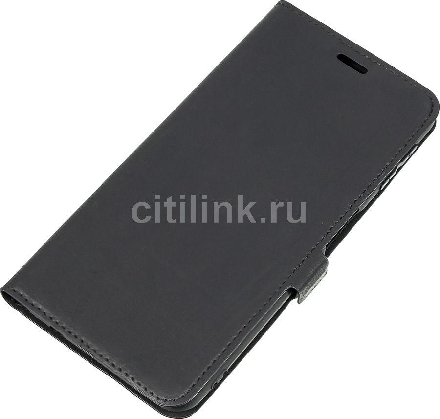 Чехол (флип-кейс) DF sFlip-38, для Samsung Galaxy A7 (2018), черный