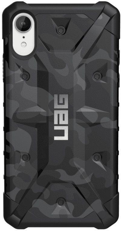 Чехол (клип-кейс)  UAG Pathfinder, для Apple iPhone XR, черный/камуфляж [111097114061]
