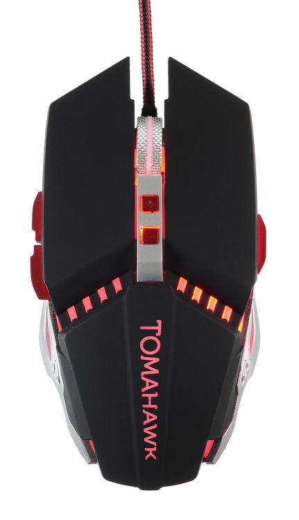 Мышь OKLICK 999G TOMAHAWK, игровая, оптическая, проводная, USB, черный