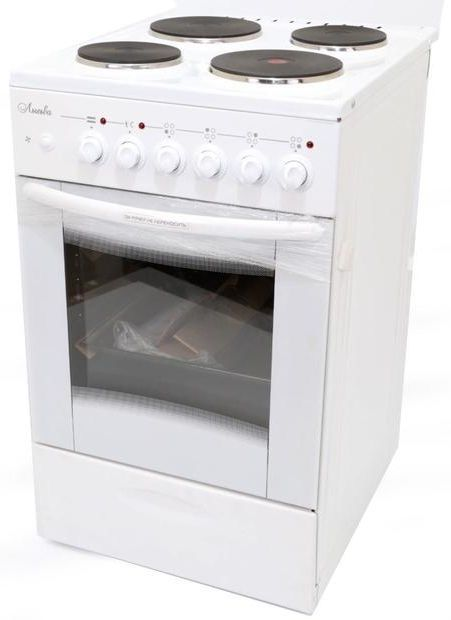 Электрическая плита ЛЫСЬВА ЭП 4/1э04 МС,  эмаль,  стеклянная крышка,  белый