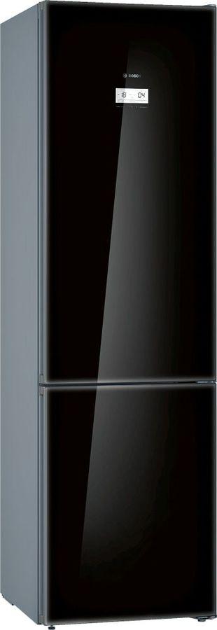 Холодильник BOSCH KGN39LB31R,  двухкамерный, черное стекло/серебристый металлик