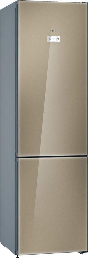 Холодильник BOSCH KGN39LQ31R,  двухкамерный, кварцевое стекло/серебристый металлик