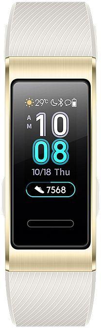 """Фитнес-трекер HUAWEI Band 3 Pro TER-B19,  0.95"""",  золотистый / серый [55023107]"""