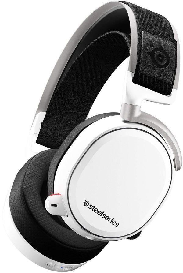 Гарнитура игровая STEELSERIES Arctis Pro Wireless,  для компьютера и игровых консолей, мониторы,  bluetooth, белый  [61474]