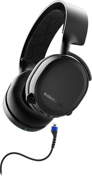 Гарнитура игровая STEELSERIES Arctis 3 2019 Edition,  для компьютера, мониторы,  bluetooth, черный  [61509]