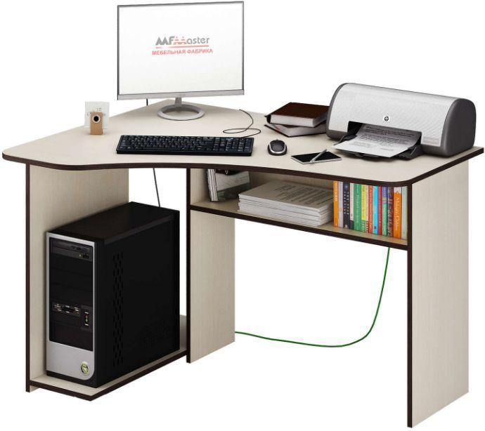 Стол компьютерный  МАСТЕР Триан-1 левый угол,  угловой,  ЛДСП,  дуб молочный