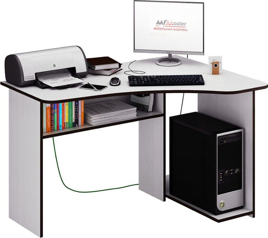 Стол компьютерный  МАСТЕР Триан-1 правый угол,  угловой,  ЛДСП,  белый