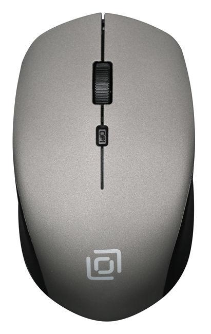 Мышь OKLICK 565MW matt, оптическая, беспроводная, USB, черный и серый