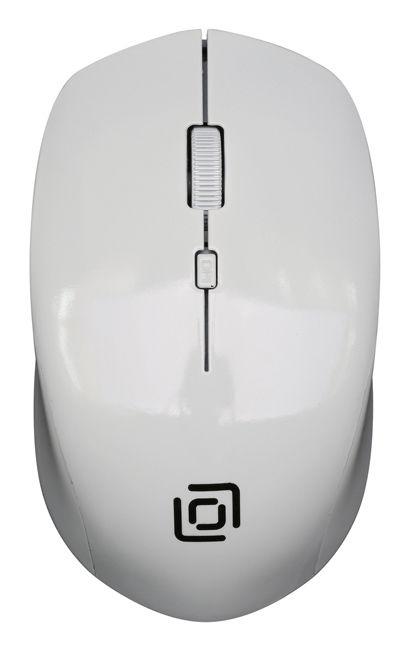 Мышь OKLICK 565MW glossy, оптическая, беспроводная, USB, белый