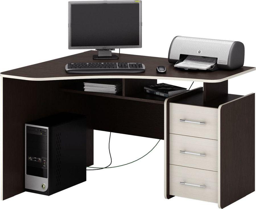 Стол компьютерный  МАСТЕР Триан-5 левый угол,  угловой,  ЛДСП,  венге и дуб молочный
