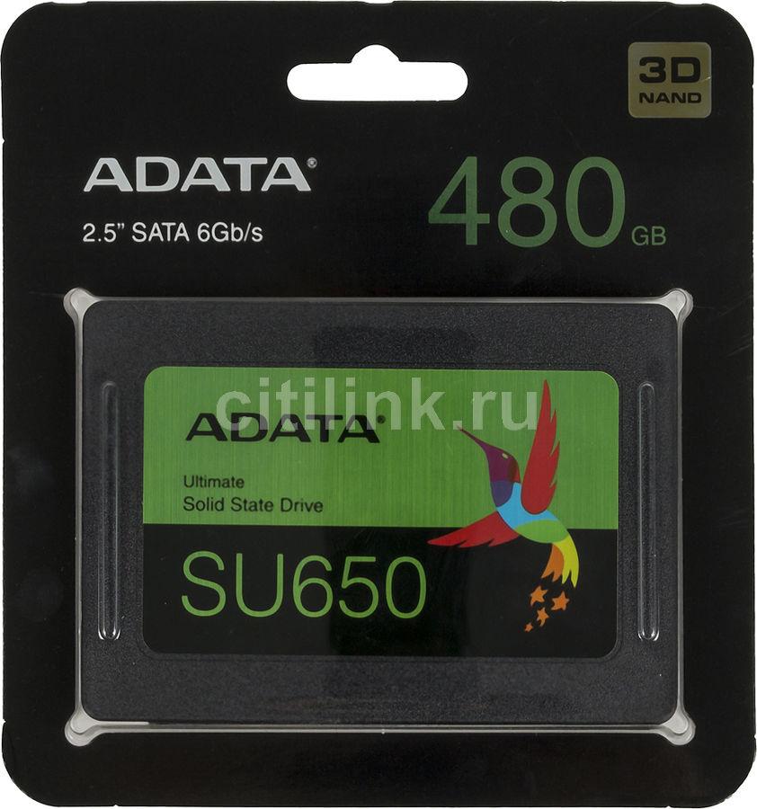 "SSD накопитель A-DATA Ultimate SU650 ASU650SS-480GT-R 480Гб, 2.5"", SATA III"