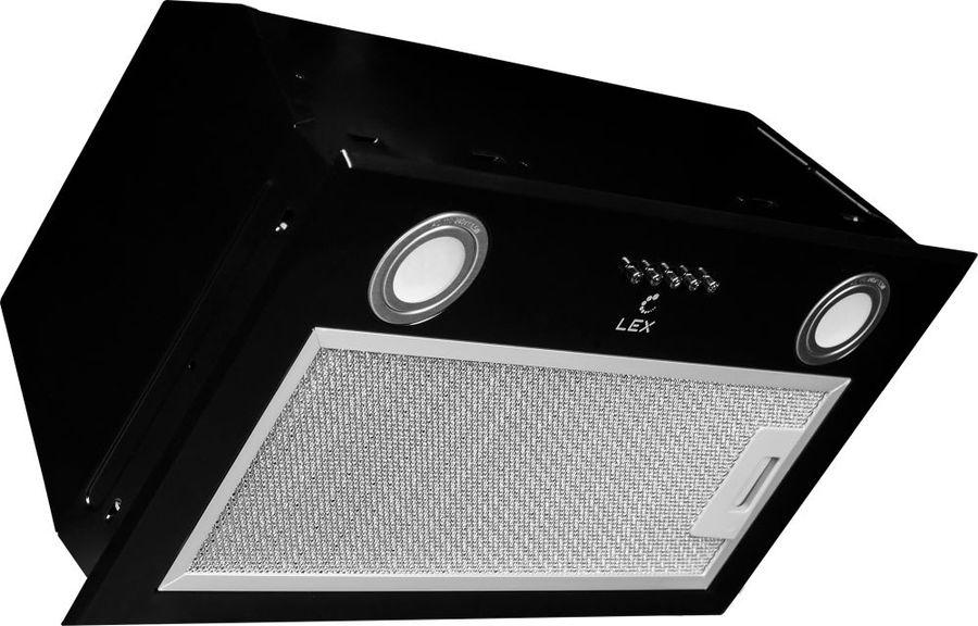 Вытяжка встраиваемая Lex GS Bloc P 600 черный управление: кнопочное (1 мотор)