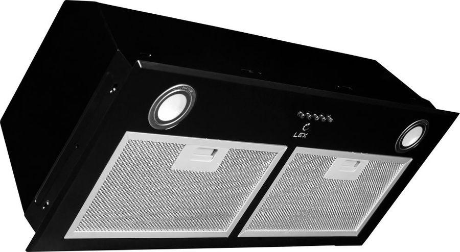 Вытяжка встраиваемая Lex GS Bloc P 900 черный управление: кнопочное (1 мотор)