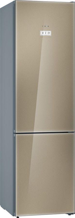 Холодильник BOSCH KGF39SQ3AR,  двухкамерный, кварцевое стекло/серебристый металлик