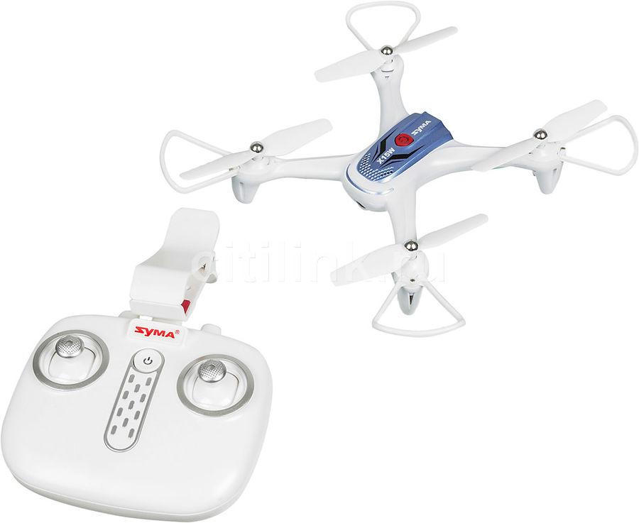 Квадрокоптер SYMA X15W с камерой,  белый [x15w white]