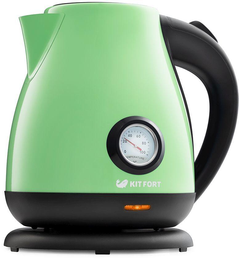 Чайник электрический KITFORT КТ-642-6, 2200Вт, светло-зеленый