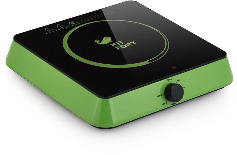 Плита Электрическая Kitfort КТ-113-2 зеленый/черный стеклокерамика (настольная)