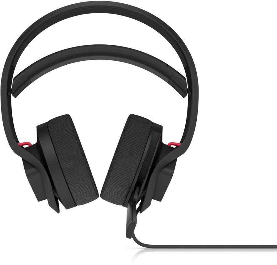 Гарнитура игровая HP OMEN X Mindframe Headset,  для компьютера, мониторы,  черный  / красный [3xt27aa]
