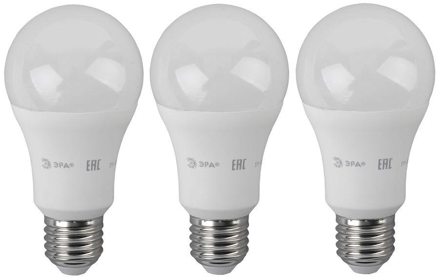 Лампа ЭРА A60-14W-840-E27, 14Вт, 1120lm, 25000ч,  4000К, E27,  3 шт. [б0030029]
