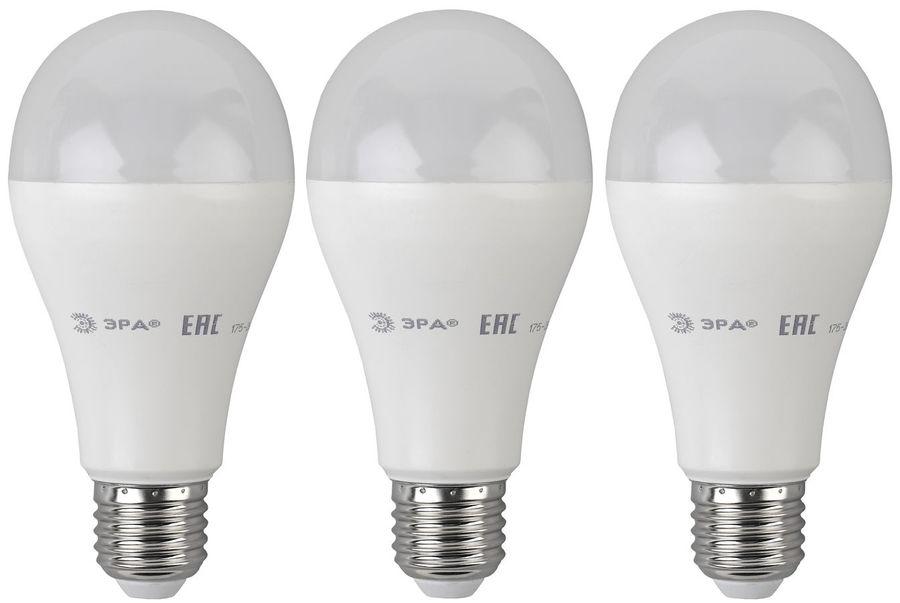 Лампа ЭРА A65-18W-840-E27, 18Вт, 1440lm, 25000ч,  4000К, E27,  3 шт. [б0031708]