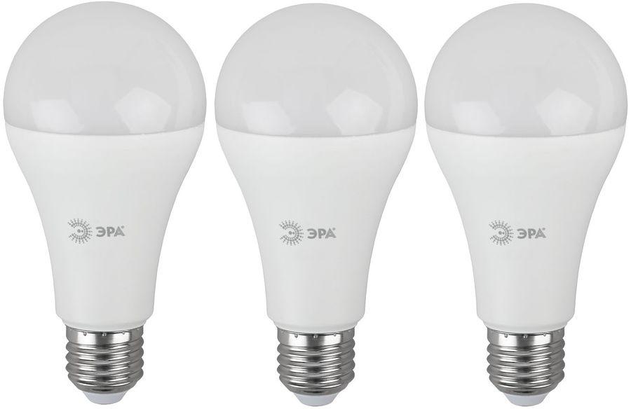 Лампа ЭРА A65-21W-860-E27, 21Вт, 1680lm, 30000ч,  6000К, E27,  3 шт. [б0035333]
