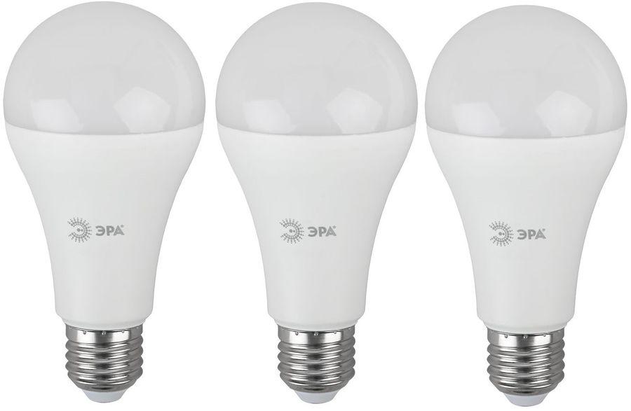 Лампа ЭРА A65-25W-827-E27, 25Вт, 2000lm, 30000ч,  2700К, E27,  3 шт. [б0035334]
