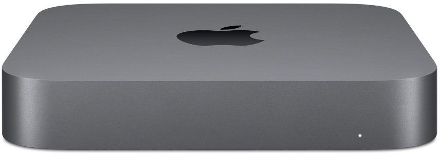 Компьютер  APPLE Mac mini MRTR2RU/A,  Intel  Core i3  8100,  DDR4 8Гб, 128Гб(SSD),  Intel UHD Graphics 630,  Mac OS,  серый