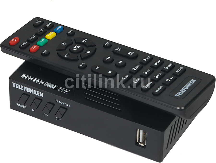 Ресивер DVB-T2 TELEFUNKEN TF-DVBT226,  черный [tf-dvbt226(черный)]