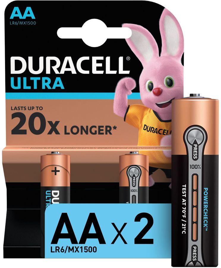 AA Батарейка DURACELL Ultra Power LR6-2BL MX1500,  2 шт.