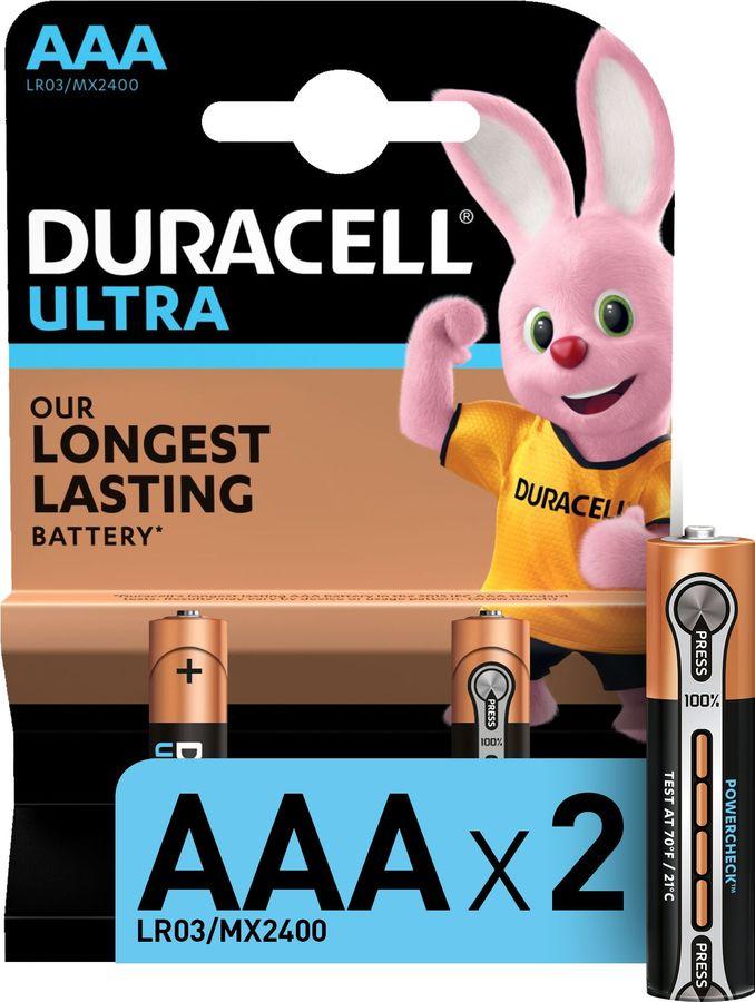 AAA Батарейка DURACELL Ultra Power LR03-2BL MX2400,  2 шт.