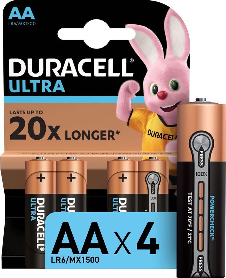 AA Батарейка DURACELL Ultra Power LR6-4BL MX1500,  4 шт.