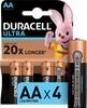 AA Батарейка DURACELL Ultra Power LR6-4BL MX1500,  4 шт. вид 1