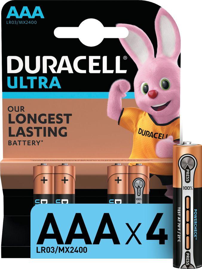 AAA Батарейка DURACELL Ultra Power LR03-4BL MX2400,  4 шт.