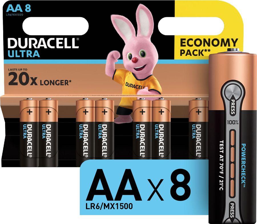 AA Батарейка DURACELL Ultra Power LR6-8BL MX1500,  8 шт.