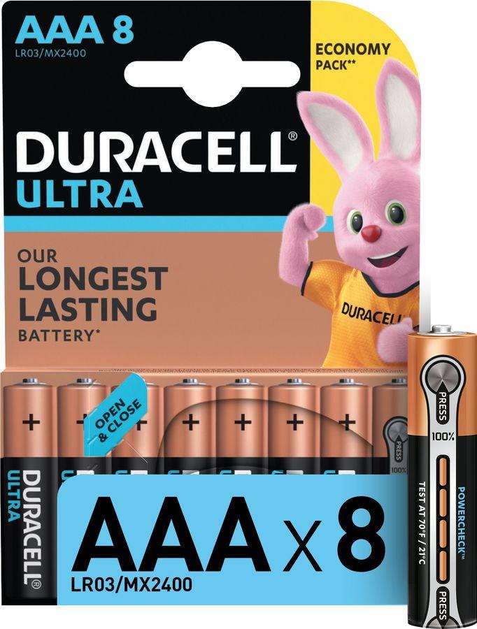AAA Батарейка DURACELL Ultra Power LR03-8BL MX2400,  8 шт.