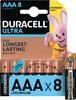 AAA Батарейка DURACELL Ultra Power LR03-8BL MX2400,  8 шт. вид 1