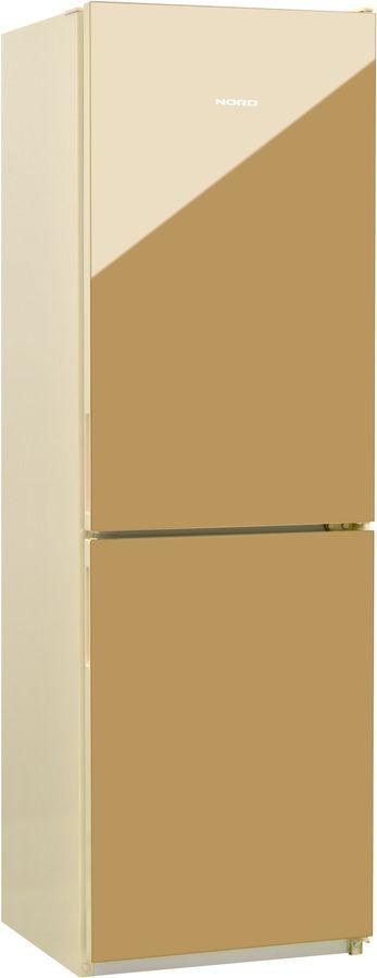 Холодильник NORD NRG 119NF 542,  двухкамерный, золотистый стекло [00000251789]