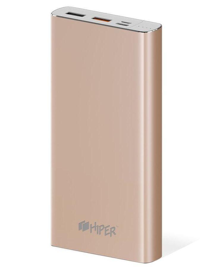 Внешний аккумулятор (Power Bank) HIPER MPX15000,  15000мAч,  золотистый [mpx15000 gold]