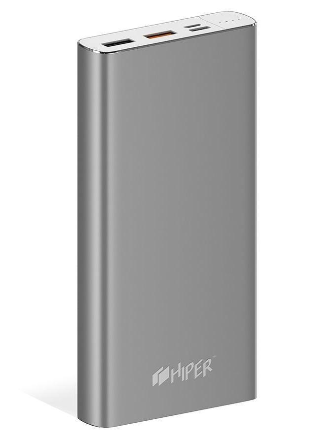 Внешний аккумулятор (Power Bank) HIPER MPX15000,  15000мAч,  серый [mpx15000 space gray]