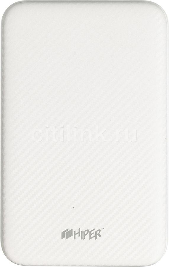 Внешний аккумулятор (Power Bank) HIPER SPX10000,  10000мAч,  белый [spx10000 white]