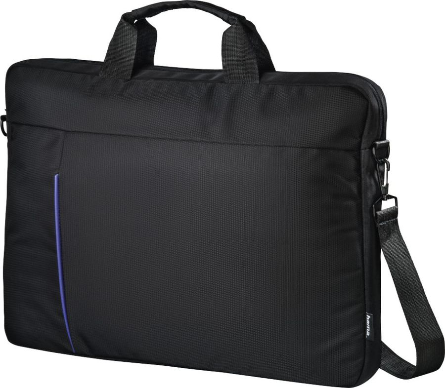 """Сумка для ноутбука 15.6"""" HAMA Cape Town, черный/синий [00101907]"""