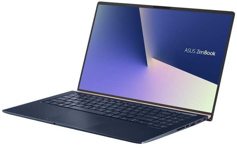 """Ноутбук ASUS Zenbook UX533FD-A8081T, 15.6"""",  Intel  Core i5  8265U 1.6ГГц, 8Гб, 512Гб SSD,  nVidia GeForce  GTX 1050 MAX Q - 2048 Мб, Windows 10, 90NB0JX1-M01170,  темно-синий"""