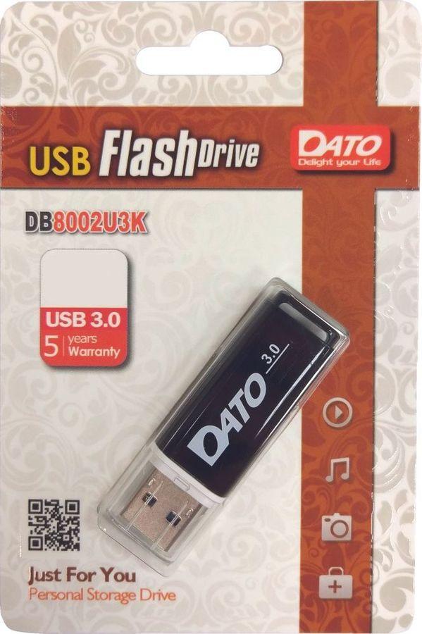 Флешка USB DATO DB8002U3 64Гб, USB3.0, черный [db8002u3k-64g]