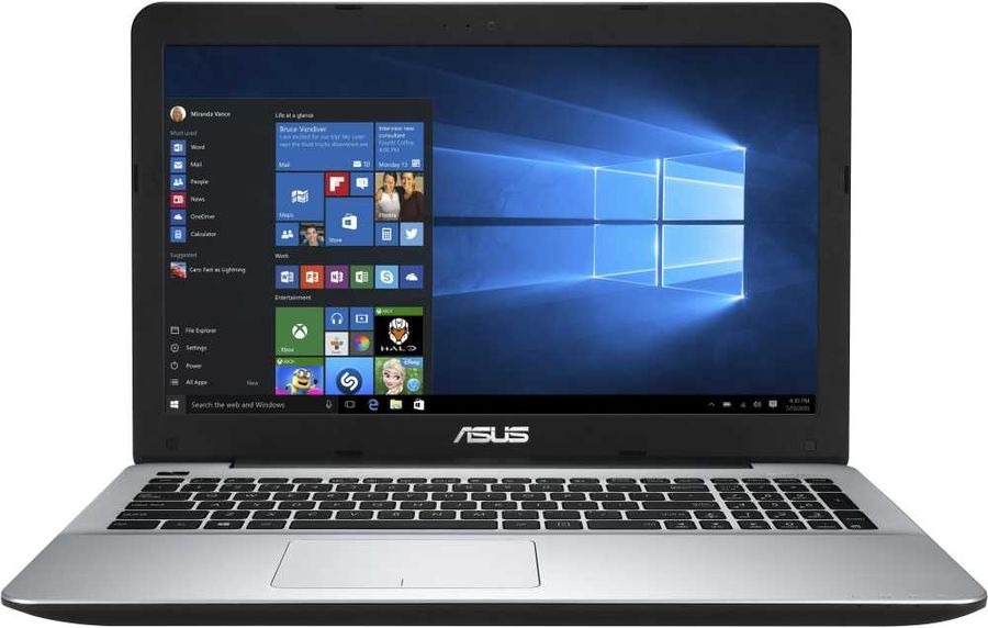 "Ноутбук ASUS VivoBook X555QA-DM338T, 15.6"",  AMD  A12  9720P 2.7ГГц, 12Гб, 1000Гб,  128Гб SSD,  AMD Radeon  R7, Windows 10, 90NB0D52-M04360,  черный"