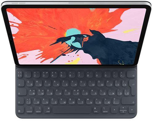 Клавиатура APPLE Smart Keyboard Folio, iPad Pro 11 черный [mu8g2rs/a]