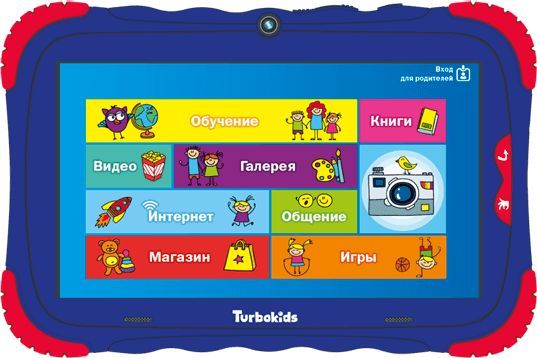 Детский планшет TURBO TurboKids S5 16Gb,  Wi-Fi,  Android 7.1,  синий [рт00020490]